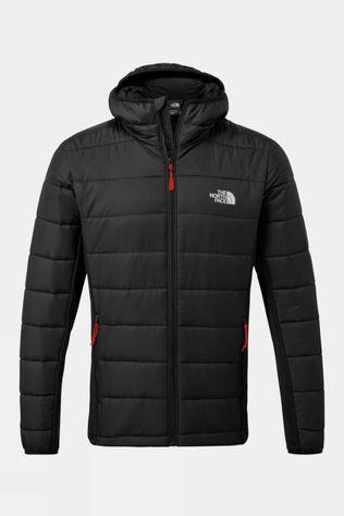 The North Face Mens Hybrid Insulator Hoody Black/Fiery Red