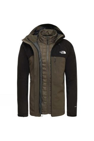 The North Face Mens Thermoball Triclimate Jacket New Taupe Green/Tnf Black