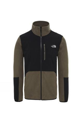 The North Face Mens Glacier Pro Full Zip Fleece New Taupe Green/Tnf Black