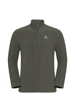 Odlo Mens Roy 1/2 Zip Midlayer Climbing Ivy - Agave Green - Stripes