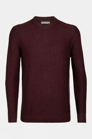 Icebreaker Mens Waypoint Crew Sweater Merlot Heather
