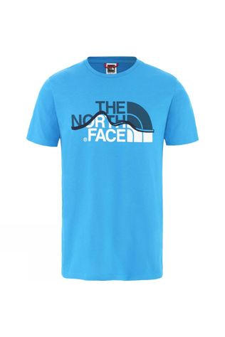 The North Face Men's Short Sleeve Mountain Line Tee Clear Lake Blue