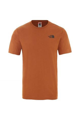 The North Face Men's Short Sleeve Red Box Tee Caramel Cafe