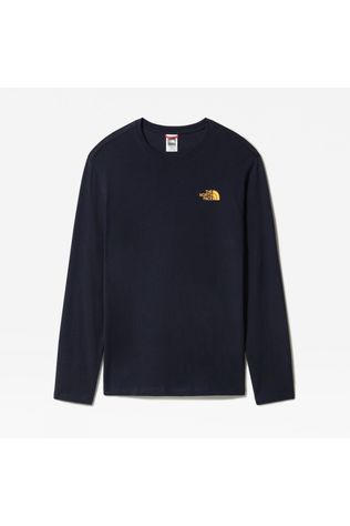 The North Face Mens Graphic Long Sleeve Tee Aviator Navy