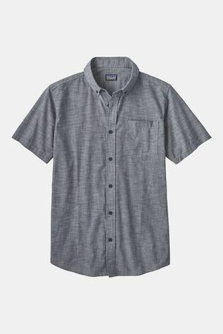 Patagonia Mens Lightweight Bluffside Short Sleeve Shirt Chambray: Classic Navy