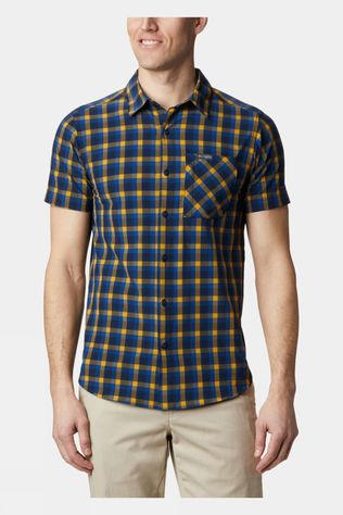 Columbia Mens Triple Canyon SS Shirt Azul, Mini Tonal Plaid