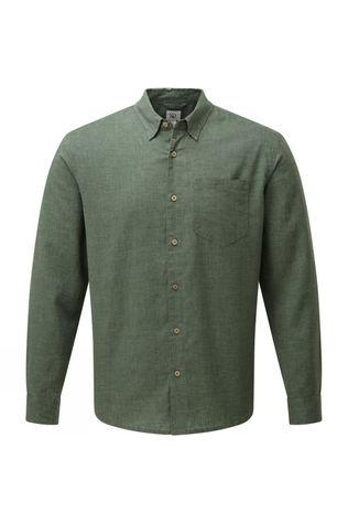 Tentree Mancos Hemp Button Up Shirt Forest Green