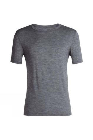 Icebreaker Mens Tech Lite Short Sleeve Crewe Gritstone Heather