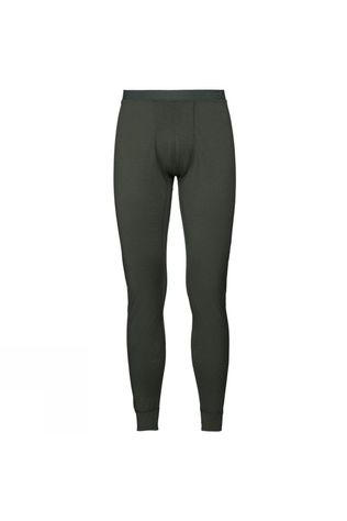 Odlo Mens Natural 100% Merino Warm Base Layer Pants Climbing Ivy