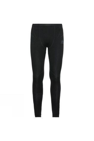 Odlo Mens Performance Evolution Warm Base Layer Pants Black - Odlo Graphite Grey