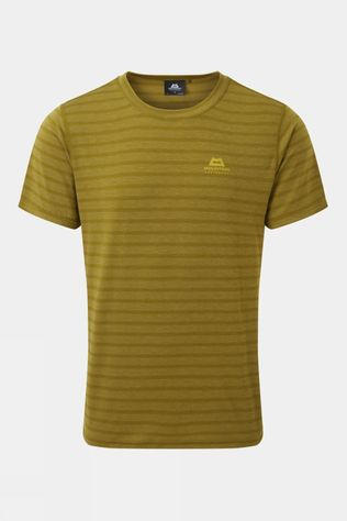 Mountain Equipment Men's Groundup Plain Tee Fir Green stripe