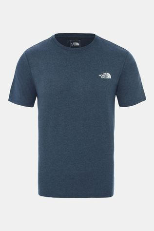 The North Face Men Reaxion Amp Crew T-Shirt Blue Wing Teal Heather