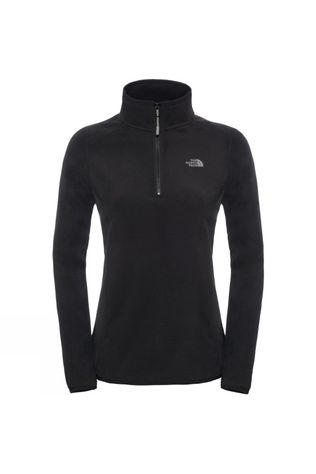 The North Face Women's 100 Glacier 1/4 Zip Fleece TNF Black