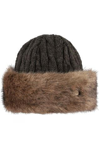 Barts Faux Fur Cable Bandhat Heather Brown