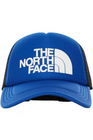 The North Face Mens TNF Logo Trucker Hat Aztec Blue/TNF White