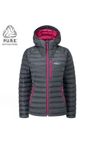 Rab Womens Microlight Alpine ECO Jacket Steel/Tayberry