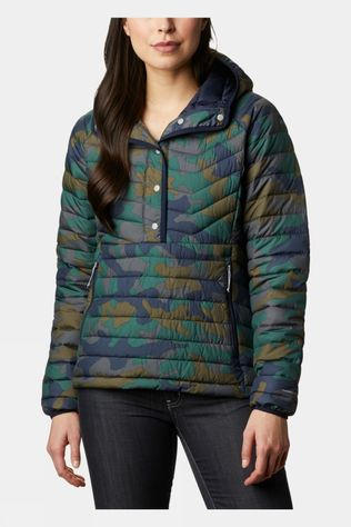 Columbia Womens Powder Lite Insulated Anorak Dark Nocturnal