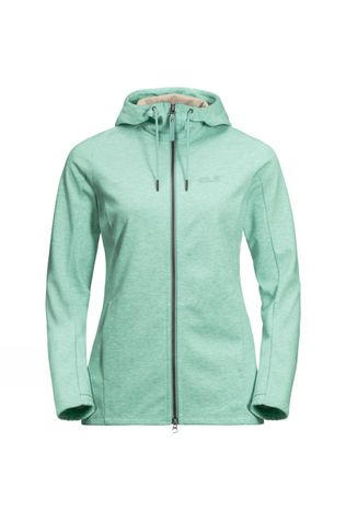 Jack Wolfskin Womens Riverland Hooded Jacket Light Jade