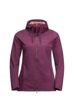 Jack Wolfskin Womens Riverland Hooded Jacket Wild Berry