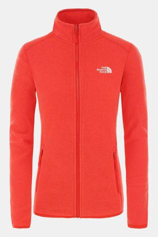 The North Face Women's 100 Glacier Full Zip Cayenne Red