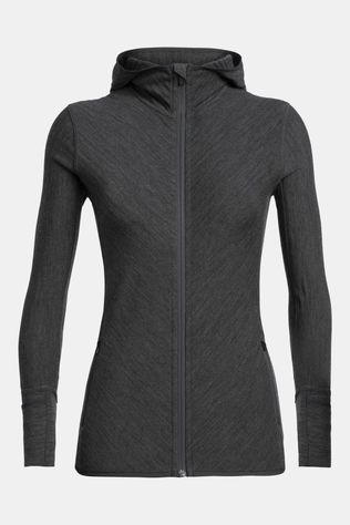 Icebreaker Womens Descender Long Sleeve Zip Hoodie Jet Heather