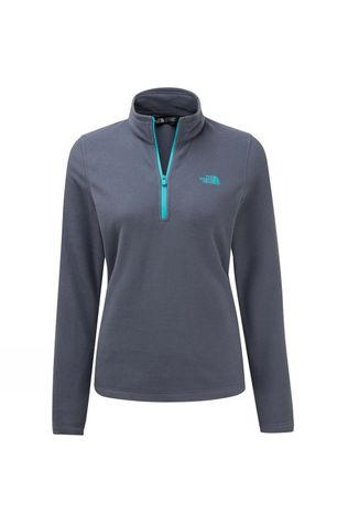 The North Face Womens Cornice II 1/4 Zip Fleece Grisaille Grey/Ion Blue