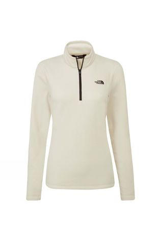 The North Face Womens Cornice II 1/4 Zip Fleece Vintage White/TNF Black