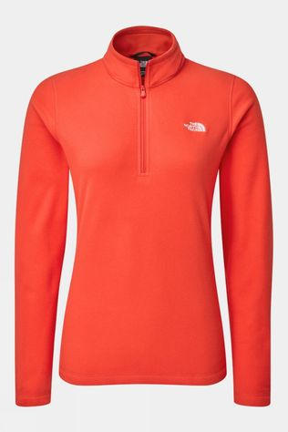 The North Face Womens Cornice II 1/4 Zip Fleece Horizon Red