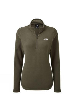 The North Face Womens Cornice II 1/4 Zip Fleece New Taupe Green