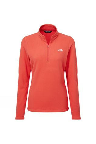 The North Face Womens Cornice II 1/4 Zip Fleece Cayenne Red