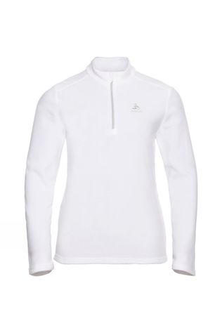 Odlo Womens Orsino Half Zip Fleece White - Odlo Silver Grey