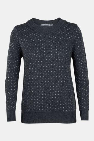 Icebreaker Womens Waypoint Crew Sweater Char Heather