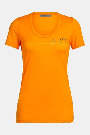 Icebreaker Womens Tech Lite Scoop Single Line Camp T-shirt Sun Single Line Camp