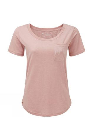 Tentree Womens Juniper Pocket T-shirt Quartz Pink Heather