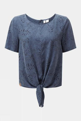 Tentree Womens Roche Shirt Spruce Blue-Floral AOP