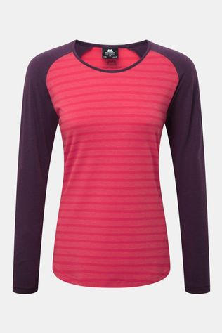 Mountain Equipment Women's Redpoint Long Sleeve Tee Virtual Pink Stripe/Blackberry
