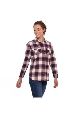 Womens Check Flannel Shirt