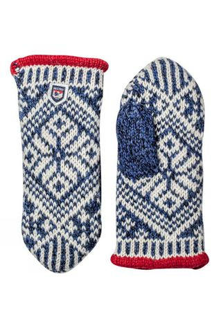 Hestra Womens Nordic Wool Mitt Blue/White