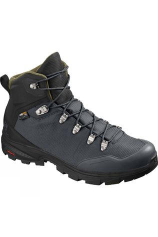Salomon Mens Outback 500 Mid GoreTex Boots Ebony/Black/Grape Leaf