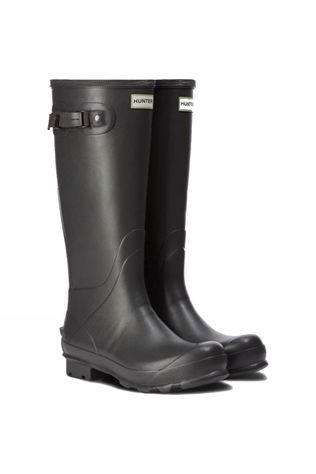 Hunter National Trust Print Norris Field Wellies Gravel