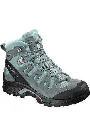 Salomon Womens Quest Prime Gore-Tex Boot Lead/Stormy Weather/Eggshell Blue