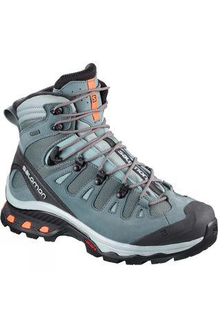 Salomon Womens Quest 4D 3 GTX Boot Lead/Stormy Weather/Bird Of Paradise