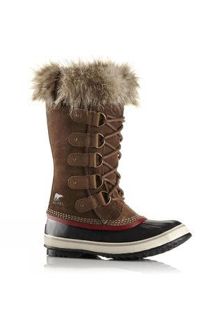 Sorel Women's Joan of Arctic Umber/Red Dahlia