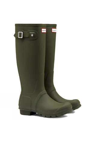 Hunter Womens Hunter Original Tall Welly Dark Olive