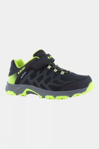 Hi-Tec Kids Yomp EZ WP Shoe Black/Lime Green