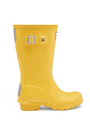 Hunter Original Kids Wellington Boots Yellow