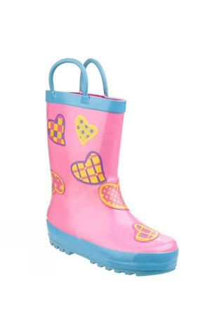 Cotswold Kids Puddle Boot Hearts