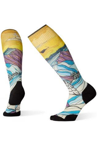 SmartWool Womens PhD Ski Light Elite Afterglow Print Socks Multicolour