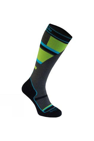Bridgedale Junior Mountain Ski Sock Grey/Green