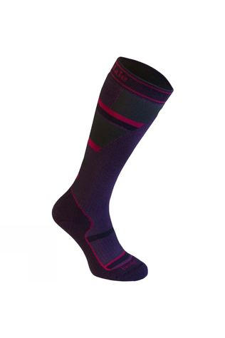 Bridgedale Junior Mountain Ski Sock Purple/Grey